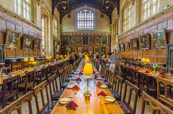 Oxford University's Christ Church College Great Hall And Bodleian Library