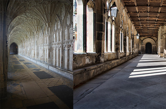 Gloucester Cathedral And Durham Cathedral, England