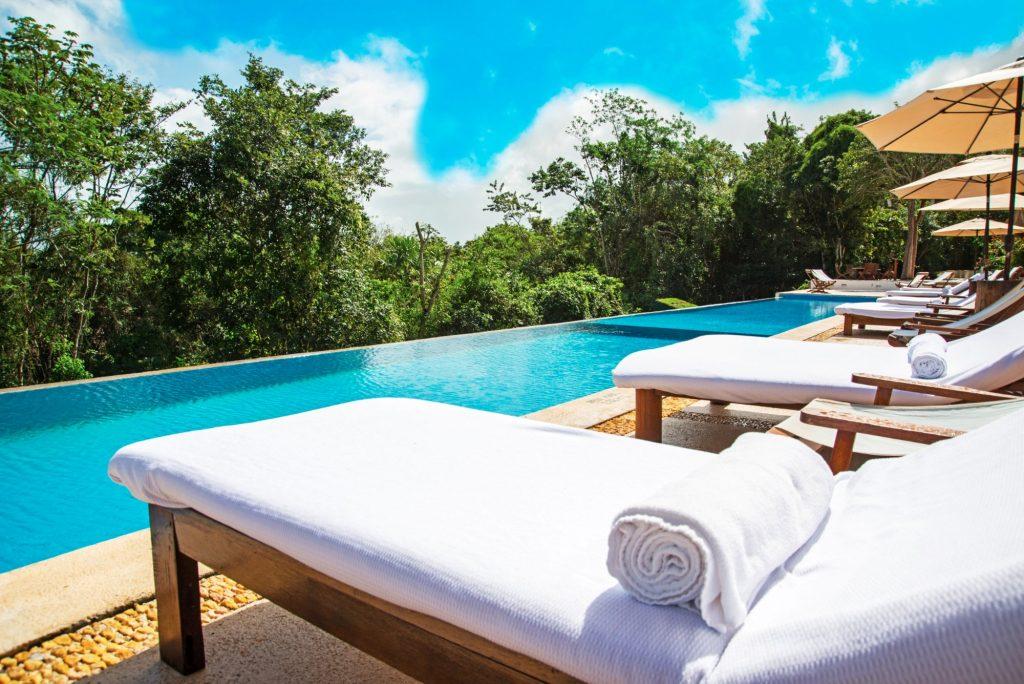 mexico resort pool view