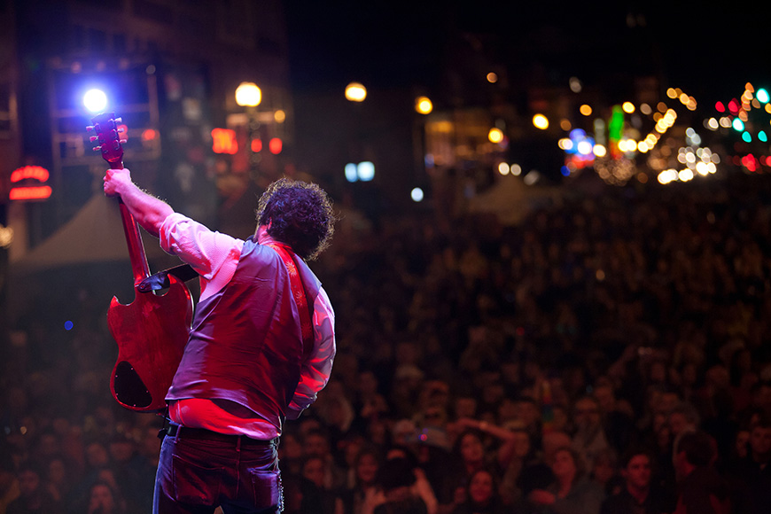 nashville musician plays onstage Will Hoge