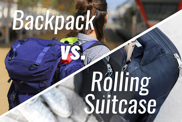 Image result for backpack vs luggage
