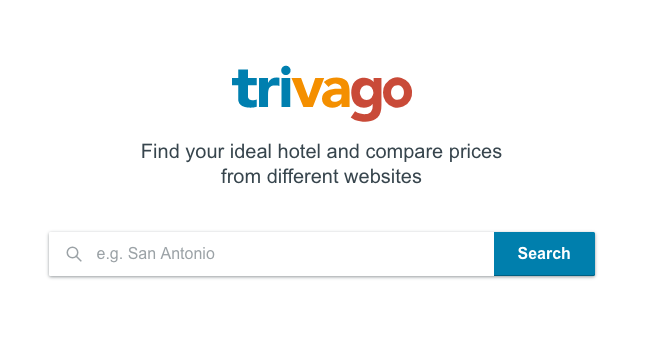 Trivago hotel booking site
