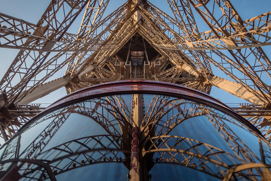 view of the newly refurbished 1st floor in eiffel tower