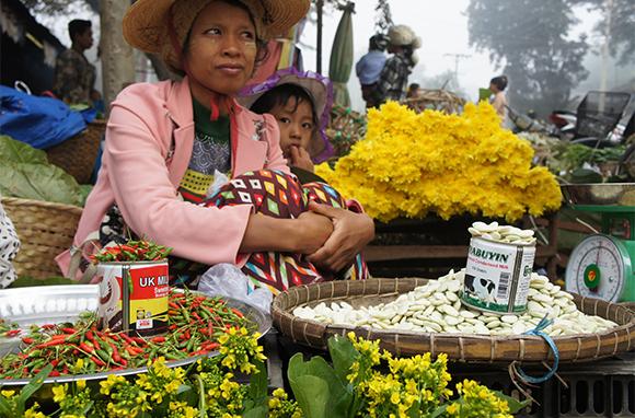 Market Seller in Katha