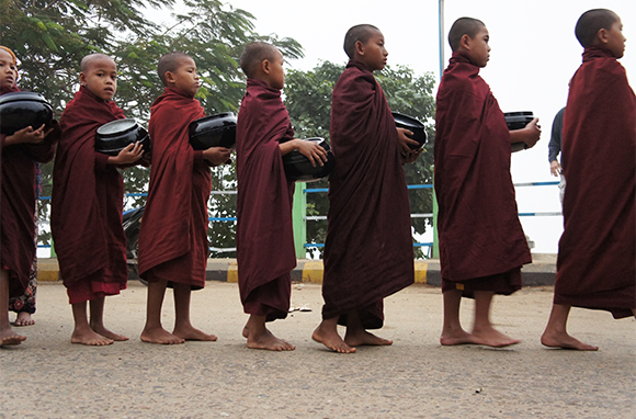 Dawn Procession of Monks