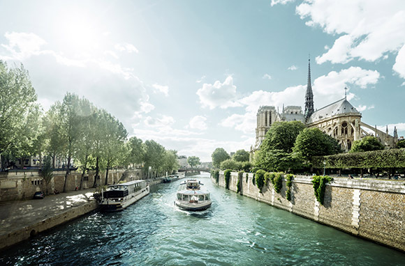 Paris from New York City Via Air France