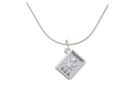 Passport Charm Necklace