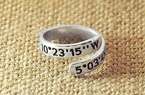Custom Coordinates Wrap Ring
