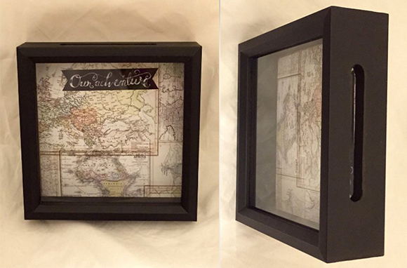World Traveler Ticket Stub Shadow Box