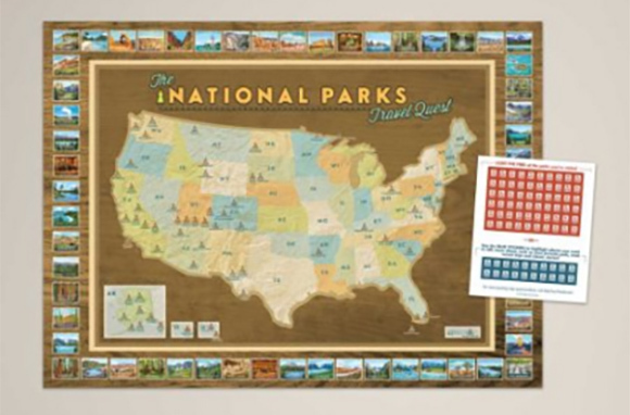 Nice National Parks Travel Quest Poster