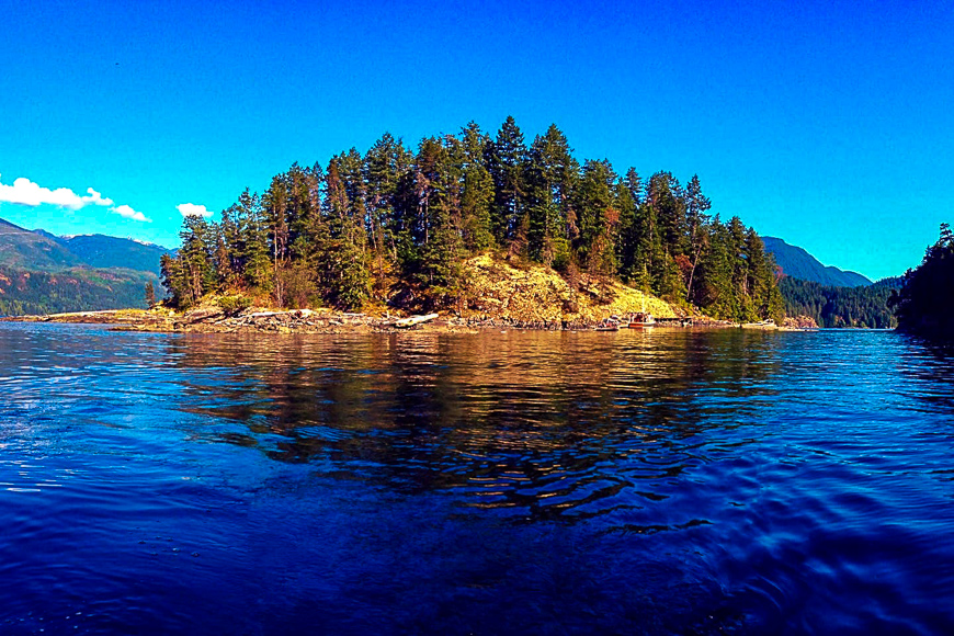 British Columbia, Canada island for rent