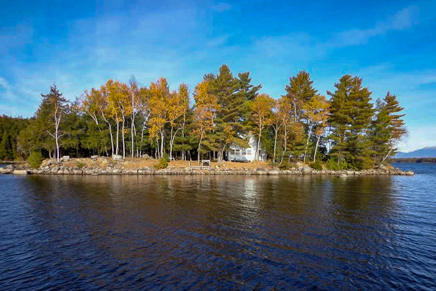 North Twin Lake, Maine island for rent