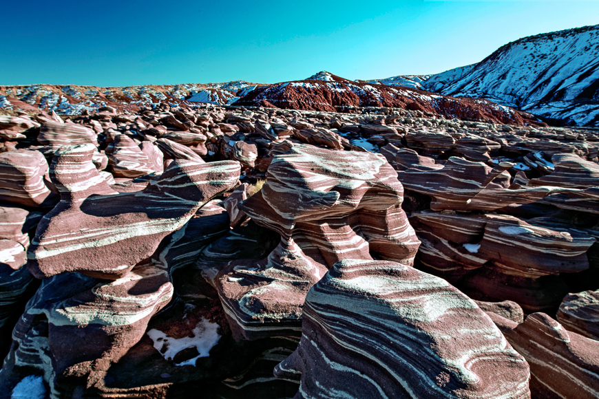 Rock layers ice cream rocks petrified forest