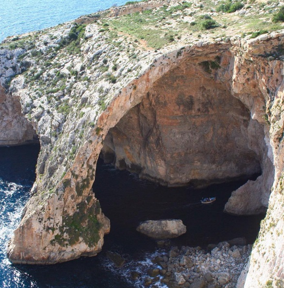 Rock formations in malta