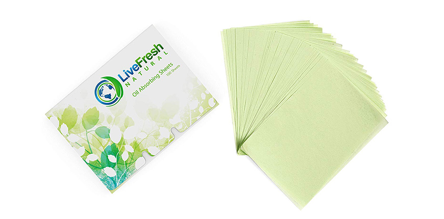 LiveFresh natural oil blotting paper