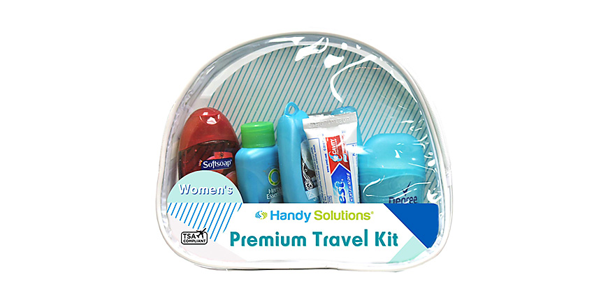 Premium women's 7-piece travel size kit