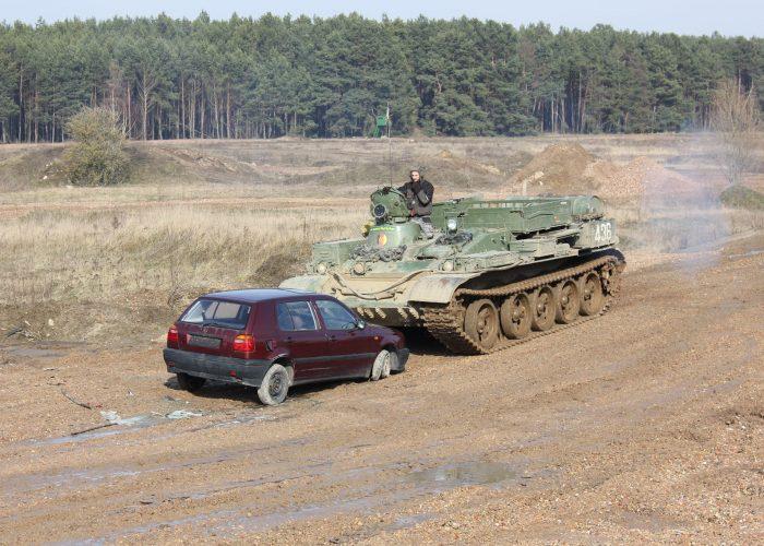Driving a German Tank