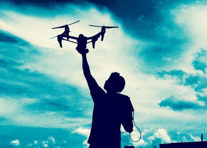 Man holding drone - hero