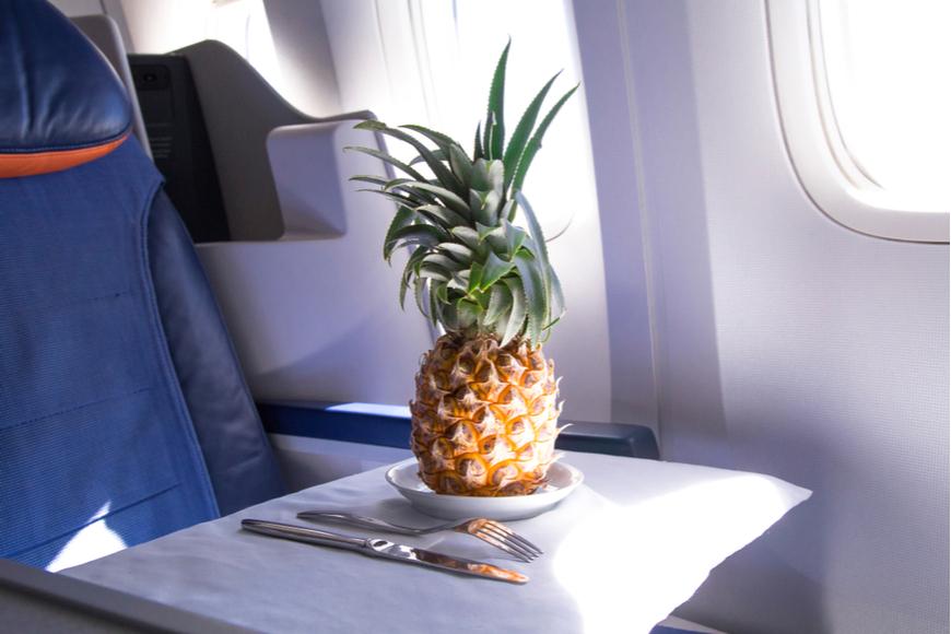 Pineapple on a plane