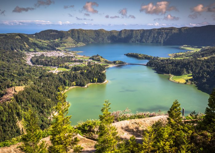 crater lake in azores