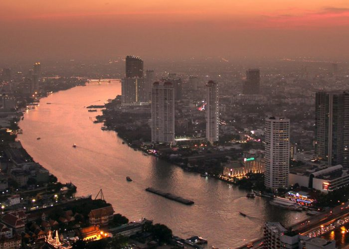 Bangkok, Thailand at sunset