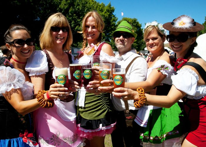 Oregon Brewers Festival beer and lederhosen
