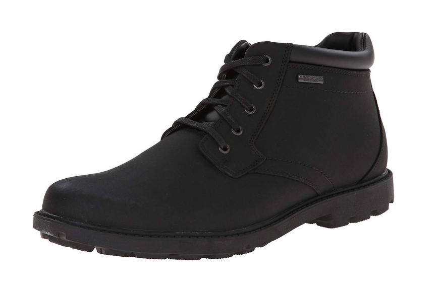 Rockport waterproof storm surge toe boot.