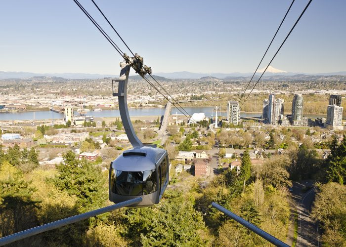Aerial tram in Portland, Oregon