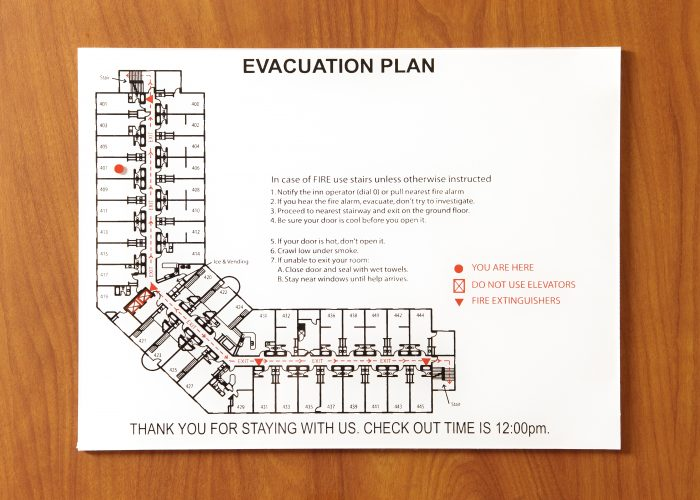 Hotel emergency route