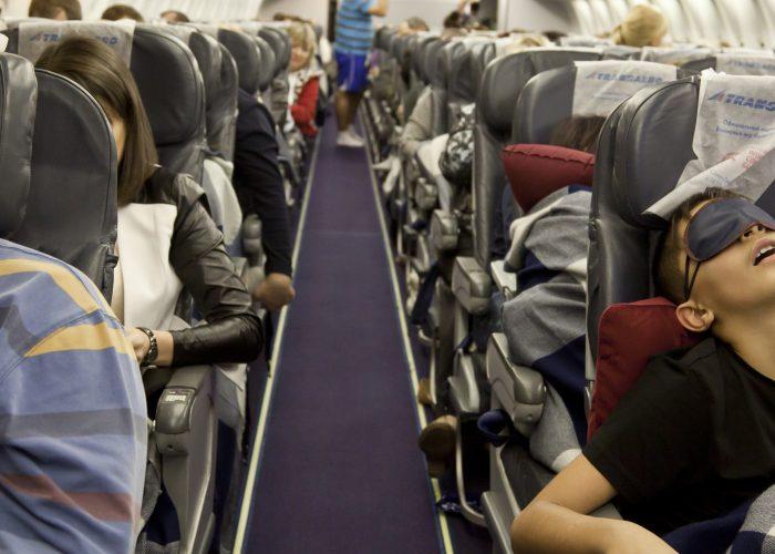 sleeping on the plane