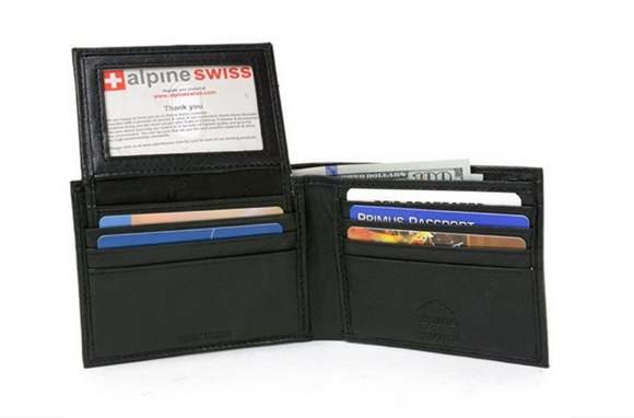 Alpine Swiss RFID Passcase 2-in-1 Wallet