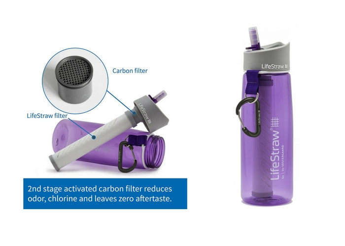 travel gifts $44.95 LifeStraw Go Water Bottle with 2-Stage Filtration