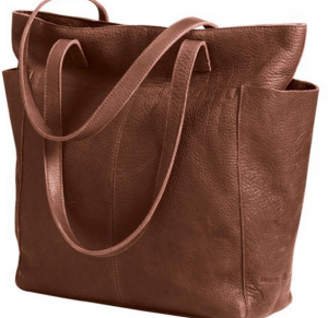 Women's lifetime leather tote bag by duluth