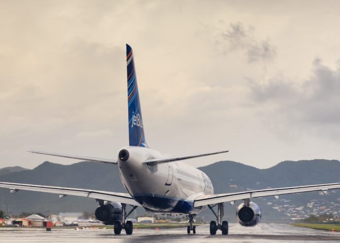JetBlue - Rear of Grounded Plane Airfare Sale