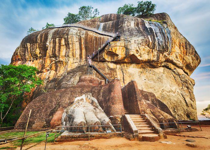 Sri Lanka Sigiriya lion rock feet
