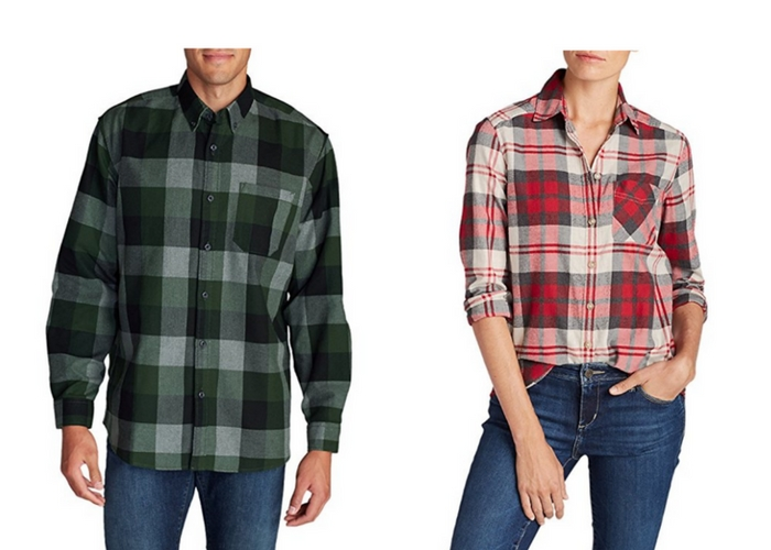 Eddie bauer favorite flannel shirt