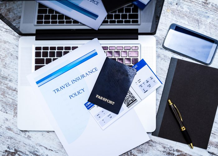 travel insurance and passport
