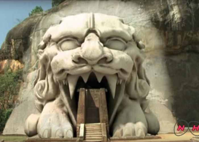Sri Lanka Sigiriya lion rendering
