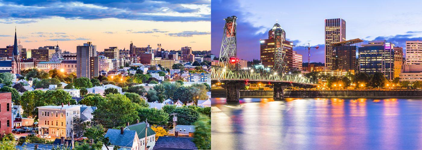 Portland Oregon and Maine