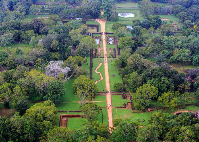 Sri Lanka Sigiriya gardens