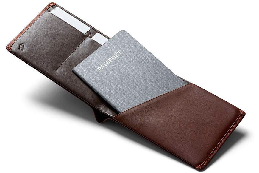 Bellroy leather travel wallet cocoa
