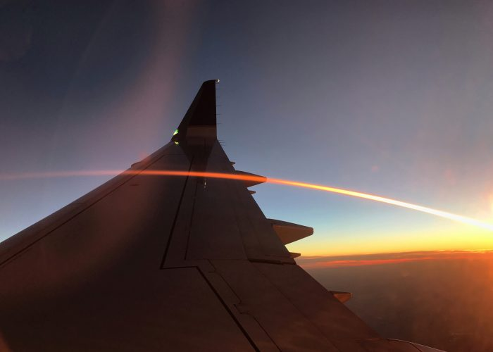 Airplane - Wing with Sunray Airfare Sale