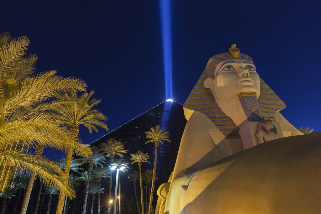 The Luxor Light Beam in Las Vegas, Nevada