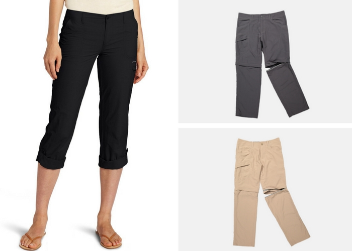 packing for opposite climates convertible pants