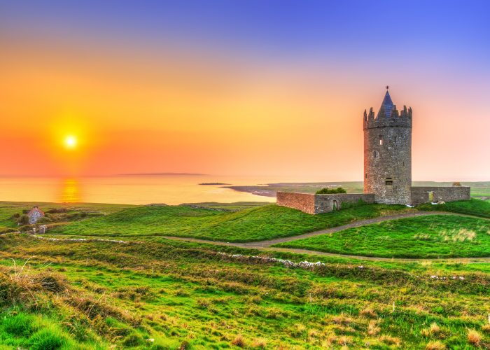 Ireland Castle Sunset