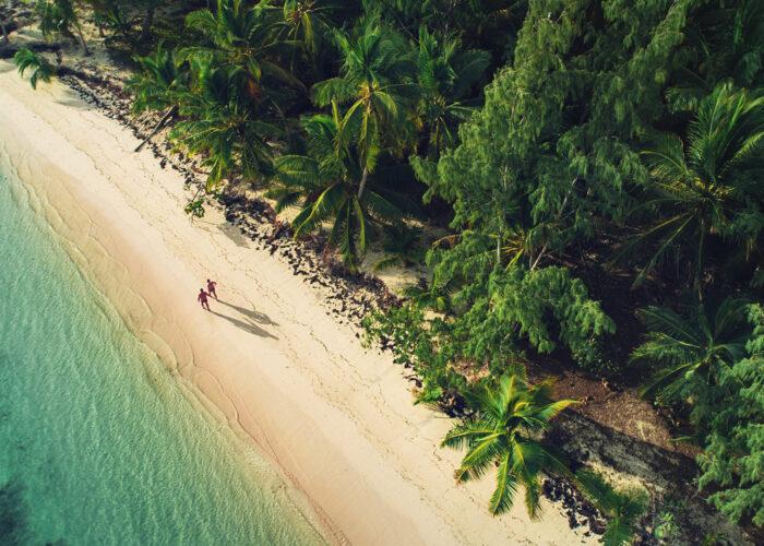 aerial view of dominican republic beach.