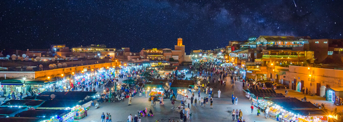 jemaa el-fna square marrakech at night.