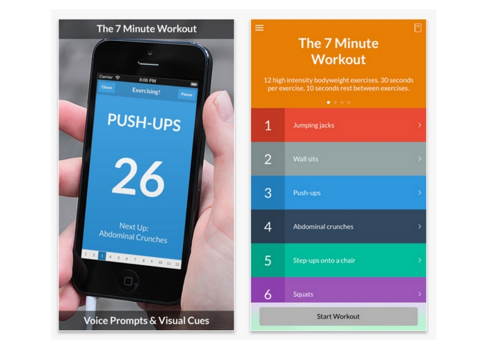 best health apps 7 minute workout