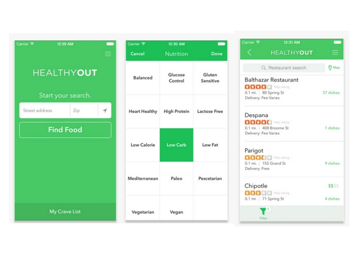 best health apps dining out