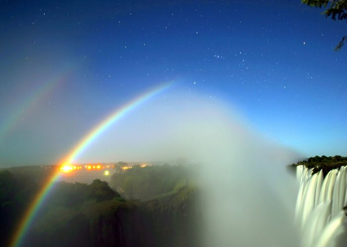 Moonbows at Victoria Falls